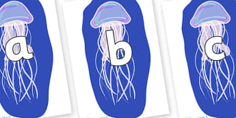 Phoneme Set on Jellyfish - Phoneme set, phonemes, phoneme, Letters and Sounds, DfES, display, Phase 1, Phase 2, Phase 3, Phase 5, Foundation, Literacy