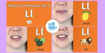 Phase 2 Phonemes : Set 5 'l' Video - Phonics, Letters and Sounds, Grapheme, pronunciation, b,f,ff,h,l,ll,ss, Twinkl Go, twinkl go, TwinklGo, twinklgo