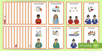 BSL SEN Class Visual Timetable - BSL Resources, British Sign Language, Sign Support, Visual Timetable, Visual supports, Deaf Awarenes