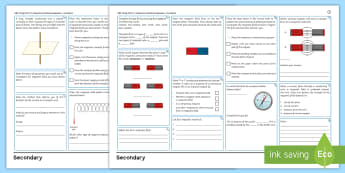 AQA Trilogy GCSE Unit 6.7: Magnetism and Electromagnetism Foundation Revision Activity Mat  - KS4 Physics, AQA Unit 6.7, AQA Trilogy, magnetic field, solenoid, electromagnets, electromagnetism,