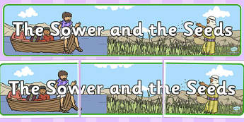 The Sower and the Seeds Display Banner - sower, seeds, display