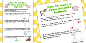 Farm Animals Lapbook Instructions Sheet - lapbooks, instructions