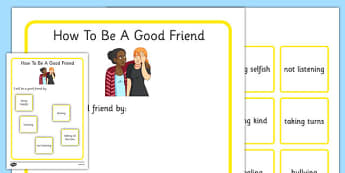 KS3 How To Be A Good Friend - SEN, support, behaviour, relationships, secondary, activity, PSHE, supporting, others, getting along, friendships, relationships