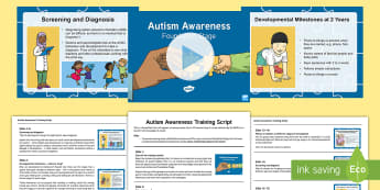 EYFS Autism and Developmental Milestones CPD Pack - World Autism Awareness Day,2nd April 2017, SEN, development, delay, learning, mile stones, ASD, spec