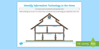 KS1 Identify Information Technology in the Home Activity - Curriculum Aims, Computing, technology, information technology, homes, houses, uses, world, IT