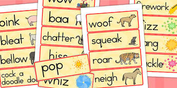 Chinese New Year Onomatopoeia Word Cards - australia, word cards