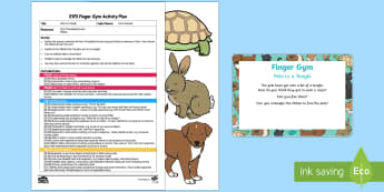 EYFS Pets in a Tangle Finger Gym Plan and Resource Pack - EYFS Pets, Animals, National Pet Month, fine motor, funky fingers, threading, lacing
