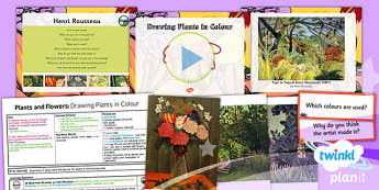 Art: Plants and Flowers: Drawing Plants in Colour UKS2 Lesson Pack 2
