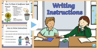 Writing Instructions PowerPoint - text types, instructions, Procedure, procedural text, how to write instructions, WALT, success crite