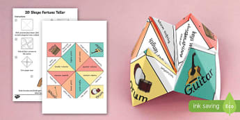 Science Sound: Pitch and Volume Chatterbox Fortune Teller Template - vibration, frequency, paper craft