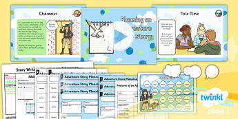Explorers: Up and Amelia Earhart: Story Writing 1 Y2 Lesson Pack - Adventure story, Disney, famous women, inventors, aviation, transport