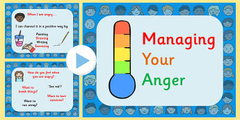 Managing Anger and Conflict PowerPoint - anger management, how to manage anger, what to do when you feel angry powerpoint, behaviour powerpoint, pshe, ks2