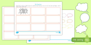 Australia Father's Day Superhero Comic Strip Storyboard Template