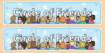 Circle of Friends Display Banner - display, banner, friends
