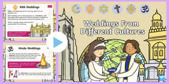 KS1 Weddings From Different Cultures Information PowerPoint - Marriage, Religions, Ceremony, Celebration, Bride And Groom