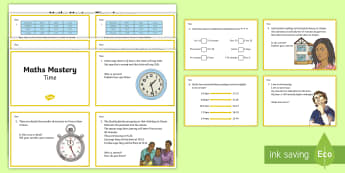 Year 3 Time Maths Mastery Challenge Cards - KS2, Maths, time, measures, mastery, Year 3, activities, pp, ppt