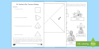 St Andrew's Day Triarama Display Activity - st andrew's day model, st andrew's day craft, st andrew's day activity, St andrew's day model, S