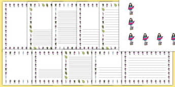 Page Borders to Support Teaching on Matilda - Matilda, Matilda Page borders, page borders, roald dahl, roald dahl page borders, matilda writing frames