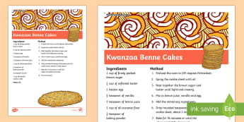 Kwanzaa Benne Cakes Recipe - Kwanzaa, benne cakes, recipe, celebrate kwanzaa