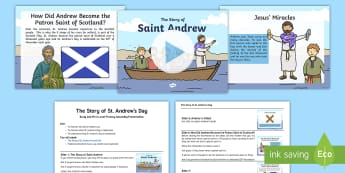 The Story of Saint Andrew Assembly Pack - Patron, Saint, Scotland, Whole, School, Andrew, Christianity, Disciple