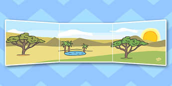 Africa Small World Background - Small World, Africa, Safari, backdrop, background, scenery, small world area, small world display, small world resources