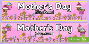 Mother's Day Display Banner Romanian Translation - romanian, mother's day, Mother's Day resource, activity, display, banner, sign, poster, Mother's Day Display