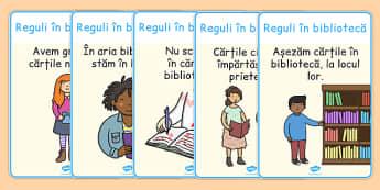 Regulile în bibliotecă - Planșe