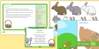 Easter Small World Play Idea and Printable Resource Pack - Easter, spring, eggs, chicks, easter bunny, imaginative play, smallworld play, pretend play, role pl