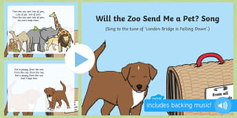Will the Zoo Send Me a Pet? Song PowerPoint - Dear Zoo, Rod Campbell, animals, letter to the zoo, zoo, singing, song time