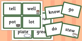 Vocab Matching Cards to Support Teaching on What's The Time, Mr Wolf? - match, literacy
