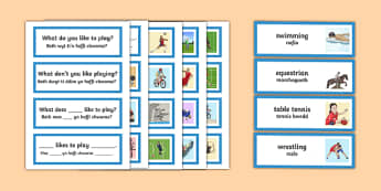 Olympic Language Patterns Word Cards Bilingual Resource - Olympics, Language Patterns, Word Cards
