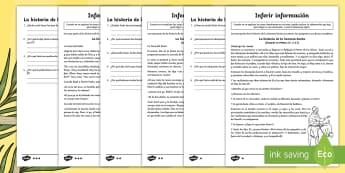 Fichas de actividad Go Respond: Inferir información - La historia de la Semana Santa - interactivo, pdf, lectura, pascua, semana santa, semana, santa, Jesús, Cristo, religión, resurecci