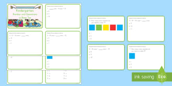 Kindergarten Number and Operations in Base Ten Digital Assessment Practice Activity - review, assessment, number and operations in base ten, place value, tens and ones, digits, ones, dib