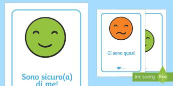 Poster per Comunicare le Emozioni - le, mie, emozioni, sentimenti, poster, comunicazione, sostegno, italiano, italian