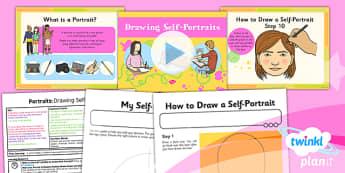 Art: Portraits: Drawing Self Portraits KS1 Lesson Pack 1