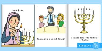 Hanukkah Emergent Reader eBook - Beginning Readers, Guided Reading, Jewish Holiday, Early Readers, Early Childhood Literacy