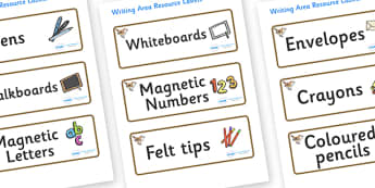 Wren Themed Editable Writing Area Resource Labels - Themed writing resource labels, literacy area labels, writing area resources, Label template, Resource Label, Name Labels, Editable Labels, Drawer Labels, KS1 Labels, Foundation Labels, Foundation S
