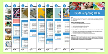 Craft Recycling Club Guidance and Plans for Teachers