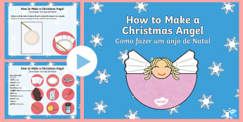 Christmas Angel Craft Activity PowerPoint English/Portuguese - Christmas Angel Craft Activity Powerpoint - christmas, christmas craft, christmas crafts, christmas