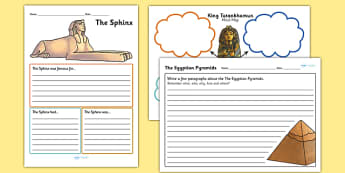 Ancient Egyptian Mind Maps and Worksheets - ancient egypt, egyptian history worksheets, tutahkhamun worksheet, sphinx worksheet, pyramids worksheet, ks2