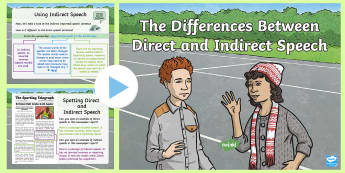 The Differences Between Direct and Indirect Speech PowerPoint - direct and indirect speech, direct and reported speech, direct speech, reported speech, inverted com