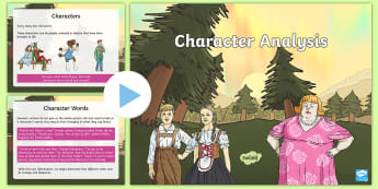 Character Analysis PowerPoint - Character, Character analysis, Character Feelings, Character Traits, Character actions, Protagonist,