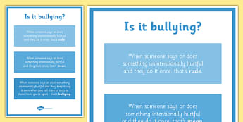 Is It Bullying? Display Poster - is it bullying, display poster, display, poster, bullying