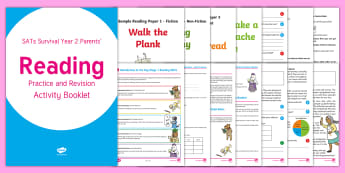 SATs Survival: Year 2 Parents' Reading Practice and Revision Activity Booklet - SATs Survival Materials Year 2, SATs, assessment, 2017, English, SPaG, GPS, grammar, punctuation, sp