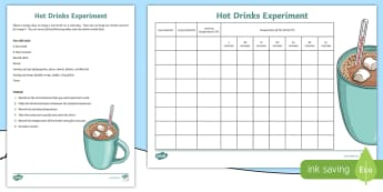 Winter Hot Drinks Outdoor Science Experiment - outdoor learning, seasons, weather, insulation, thermos,Scottish