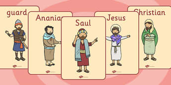 The Conversion of Saul Display Posters - poster, displays, visual, road to damascus