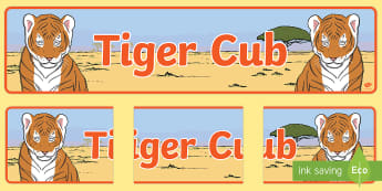 Tiger Club Display Banner - endangered, animal, display
