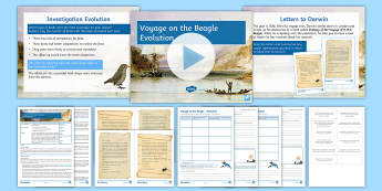 Science Week: Voyage on the Beagle Lesson 2 (Separate Science) - Evolution  - Darwin, Natural Selection, Survival of the Fittest, Evolution, Finches, Galapagos