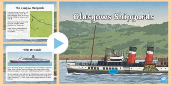 Glasgow's Shipyards PowerPoint - Scotland, glasgow, shipyards, transport, scottish history, world war 2, world war 1, 1950's, QE2,Sc