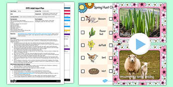 Spring Walk EYFS Adult Input Plan and Resource Pack - seasons, walks, spring, plans